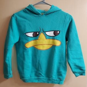 Boys Phineas & Ferb Perry the Platypus Hoodie Sm